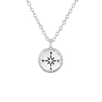 Compass - 925 Sterling Silver Plain Necklaces - W37189x