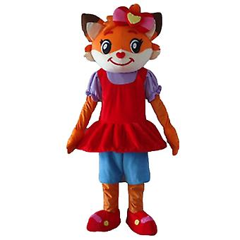 mascot cat orange and white of dressed Fox SPOTSOUND in dress