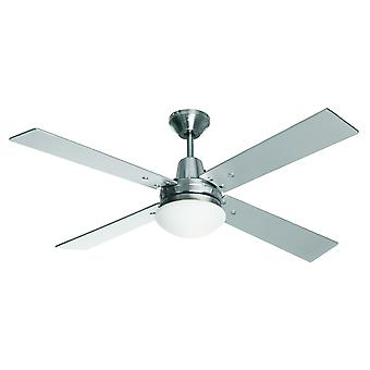 Ceiling Fan Airfusion Quest II 122 Chrome with Light
