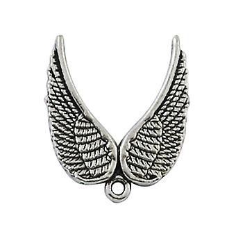 Пакет 20 x антикварные серебряные тибетских 20 х 23 мм ангельские крылья Шарм/Кулон HA06450