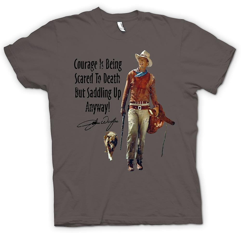 Womens T-shirt - John Wayne Courage - Western Cowboy