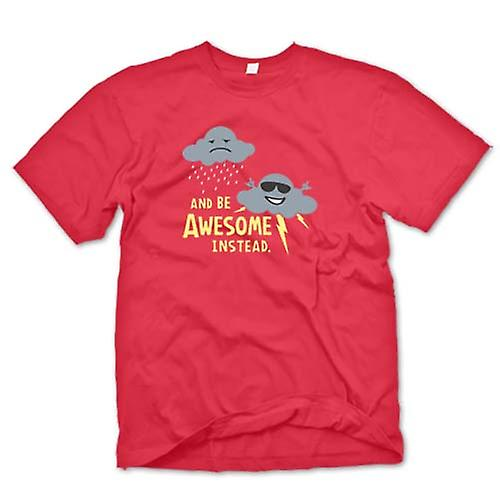 Mens T-shirt - I Stop Being Sad & Be Awesome Instead - Barney Stinson