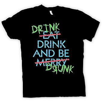 Kinder T-shirt - Laufwerk zu trinken und betrunken sein - Essen, trinken und fröhlich - lustig sein