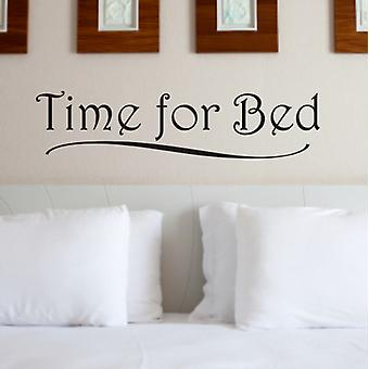 Time for Bed bedroom wall sticker