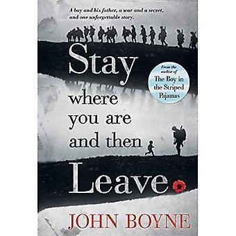Stanna där du är och sedan lämna