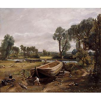Boat-building near Flatford Mill,John Constable,60x50cm