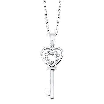 s.Oliver Jewel Damen Kette Halskette Silber Schlüssel 2024138