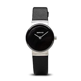 Bering analogique quartz women watch cuir noir bracelet 10126-402