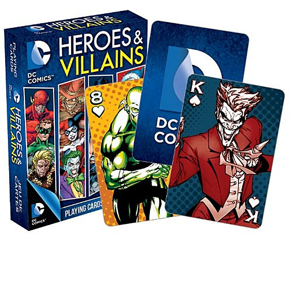 DC Comics Heroes and Villains set of playing cards    (nm)