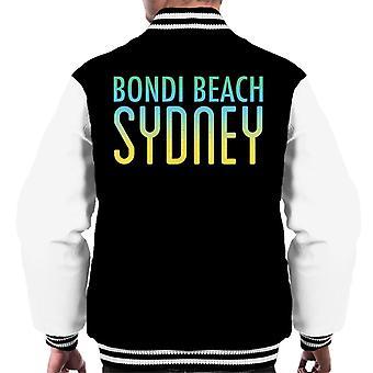 Varsity Jacket Bondi Beach cielo pieno di sole testo maschile
