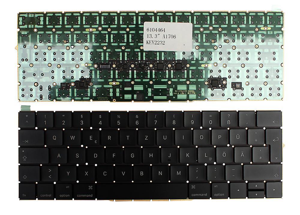 Apple MacBook Pro 13 pouces tactile fin 2016 Version rétro-éclairé (sans cadres rétro-éclairés) disposition allehommede noir remplacement clavier d'ordinateur portable
