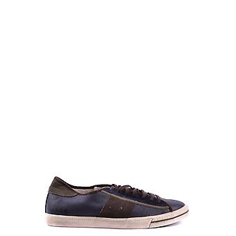 D.a.t.e. Blue Leather Sneakers