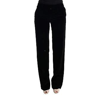 Ermanno Scervino Black Cotton Regular Fit Formal Pants -- SIG3427888