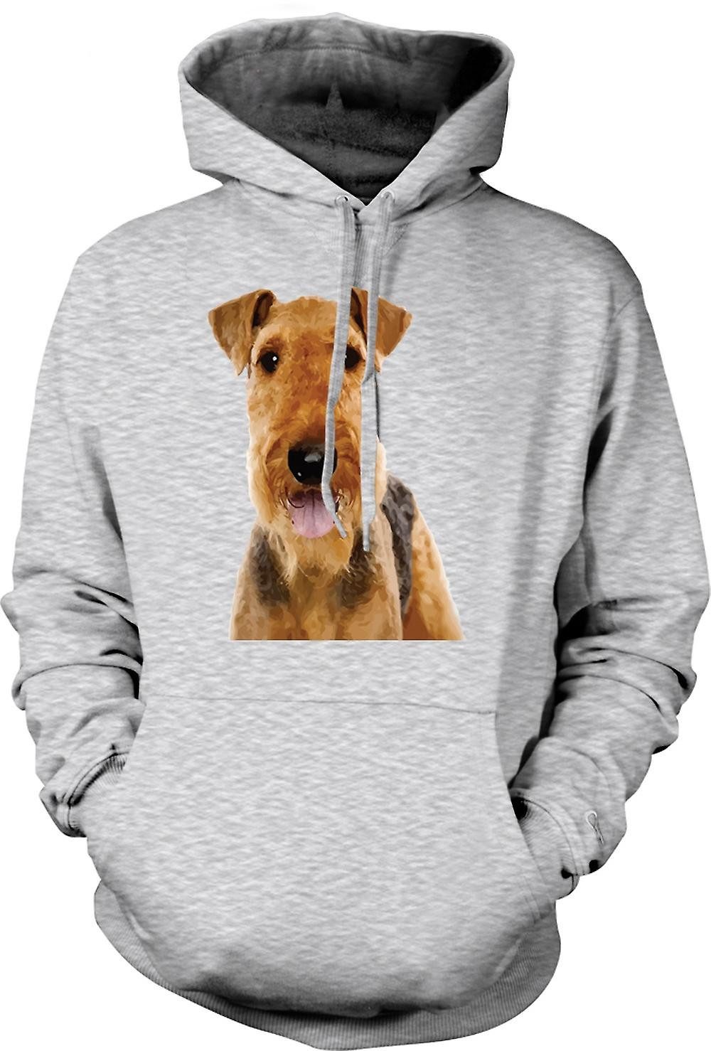 Mens Hoodie - Airdale Terrier Pet Dog