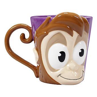 Copa Disney Aladdin Abu púrpura/marrón, 100% cerámica, capacidad aprox. 500 ml., en caja de regalo.