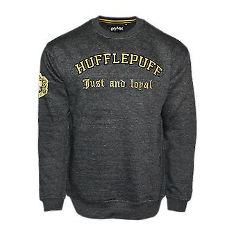 Hp201 licensed unisex harry potter™ hufflepuff™ embroidered sweatshirt