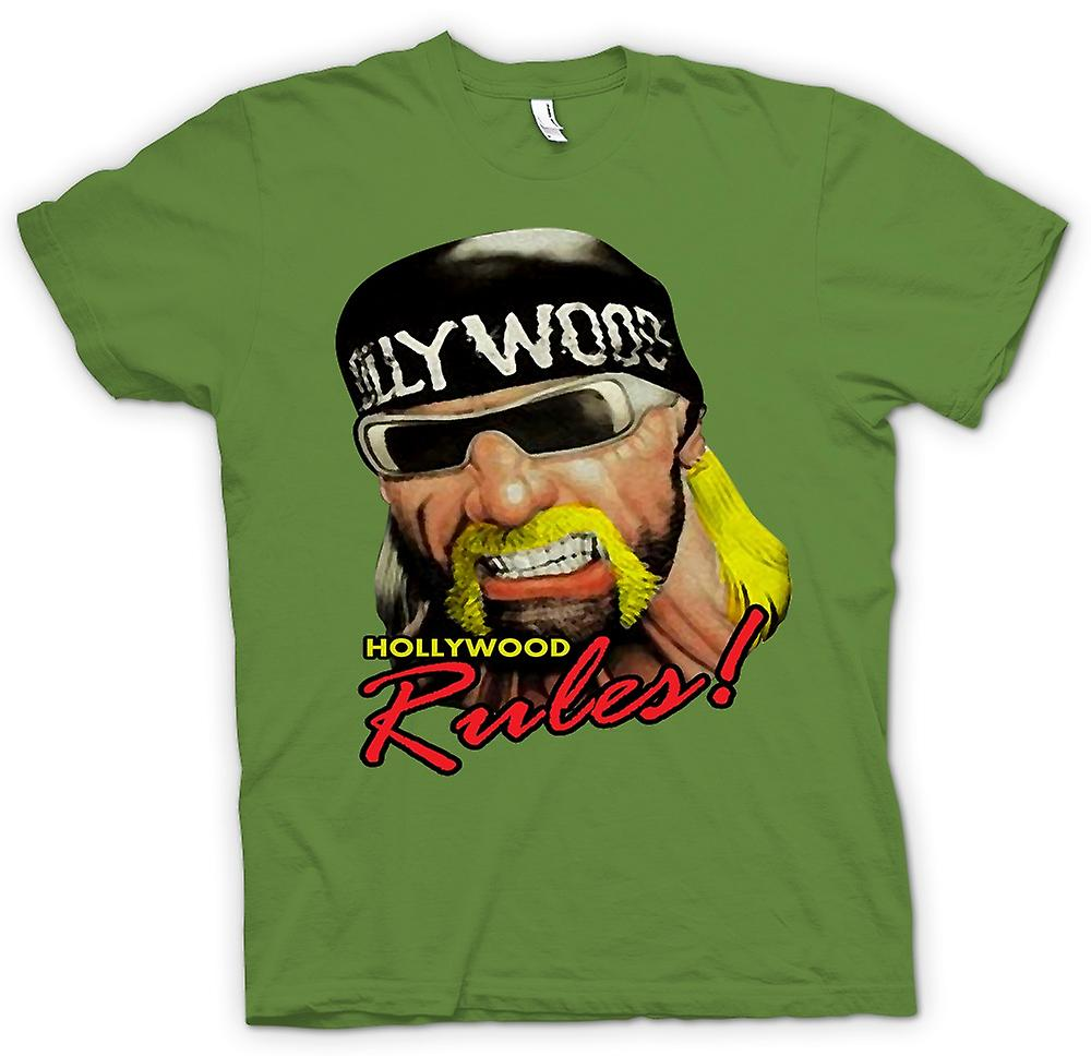 Mens T-shirt - Hulk Hogan - Hollywood Rules