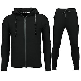 Slim Fit Joggingpak men-Mens tracksuit buy Basic-F552-Black