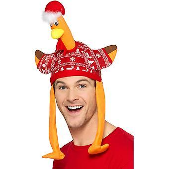 Turkije Hat kerstmuts met carnaval accessoire Turkije hoed