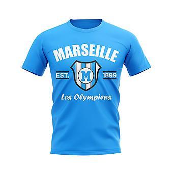 Marseille Established Football T-Shirt (Sky)