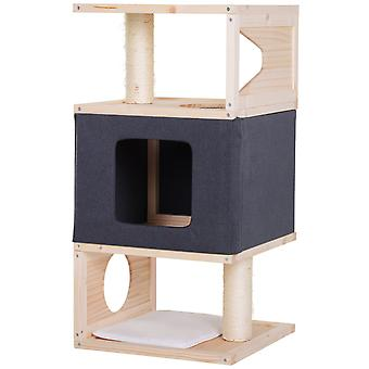 PawHut Multi-Level Cat Tree Sisal-Covered Scratching Posts Kitty House Perch Condo