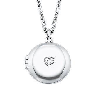 s.Oliver Jewel Damen Kette Halskette Silber Medaillon Herz 2026087