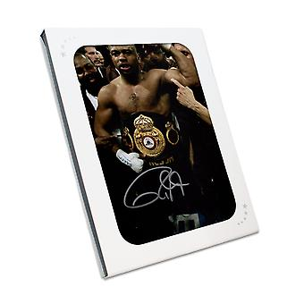 Roy Jones Jr Signed Boxing Photo In Gift Box