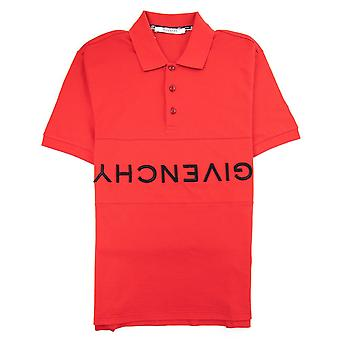 Givenchy Reverse Logo Slim Fit Polo Red