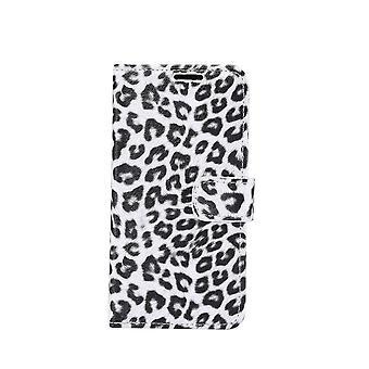 iPhone 11 Pro Max Monedero caso Leopard-White