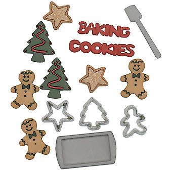 Holiday Dress It Up Embellishments Christmas Cookies Diuhol 2473
