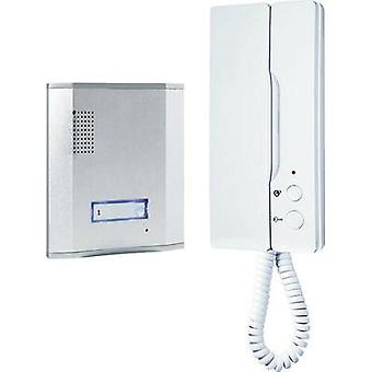Door intercom Corded Complete kit Smartwares 10.007.46 Detached Aluminium , White