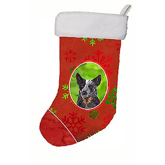 Australian Cattle Dog Red Snowflakes Holiday  Christmas Stocking SC9436
