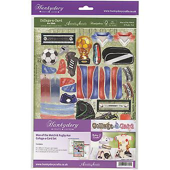 Hunkydory pour lui A4 luxe A-Collage-carte Card Set-homme de la HIM112 As Match & Rugby