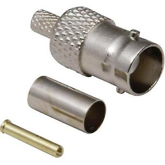 BNC connector Socket, straight 50 Ω BKL Electronic 0401059/D 1 pc(s)
