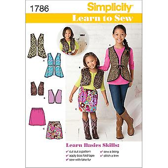 Learn to Sew Child's & Girls'  Sportswear-3-4-5-6 US1786HH