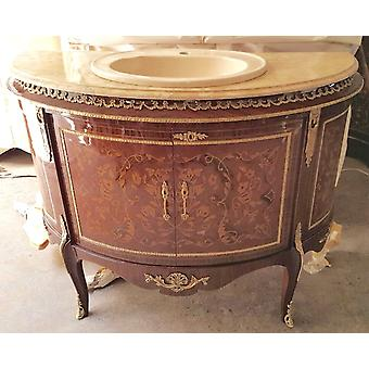 Baroque vanity antique style chest marble baroque antique style Louis xv MkBa0027