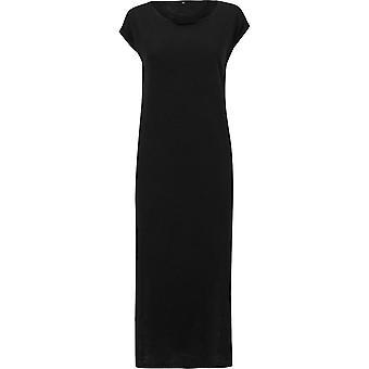Urban Classics Ladies - SLUB JERSEY Long Kleid schwarz