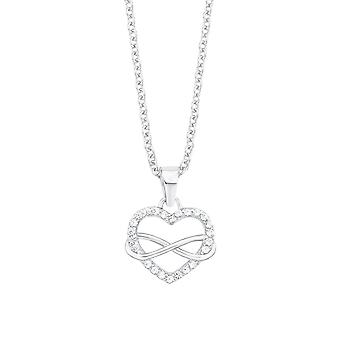 s.Oliver jewel ladies chain necklace silver Zyrkonia heart infinity 2012604