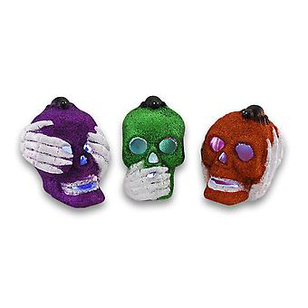 LED zmieniający kolor słuchać, mówić, zobacz zestaw czaszki nie zła Glitter 3