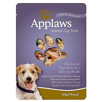 Applaws pose kylling & Veg & Ginseng bouillon 150g (pakke med 12)
