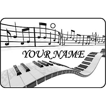 Personalised Musical Notes Car Air Freshener