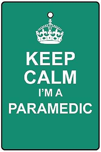 Keep Calm I'm A Paramedic Car Air Freshener