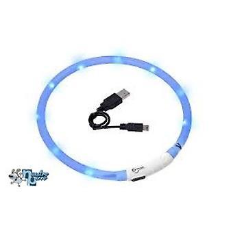 Usb 充電式の夜時間安全ヘイロー ブルー 70 cm