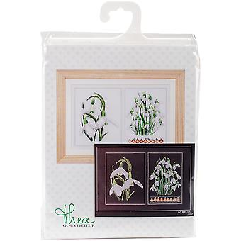 Snowdrops Panel On Aida Counted Cross Stitch Kit-13