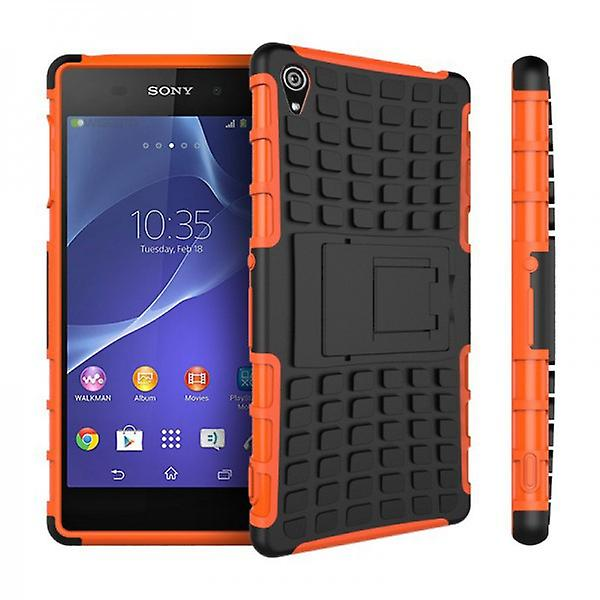 Hybrid Case 2teilig Robot Orange for Sony Xperia Z3 Plus E6553 (+) and Dual