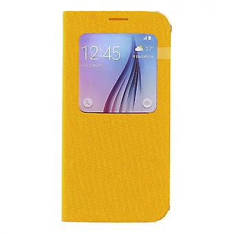 Original Samsung EF-CG920BYE S-view fabric book cover cover for Galaxy S6 yellow