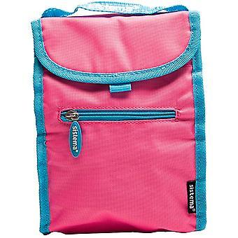 Sistema Fold op isoleret frokost køler taske Pink