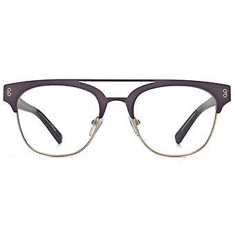 Hook LDN Faraway Stainless Steel Clubmaster Glasses In Gunmetal