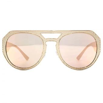 Versace Medusa Aviator Sunglasses In Pink Copper