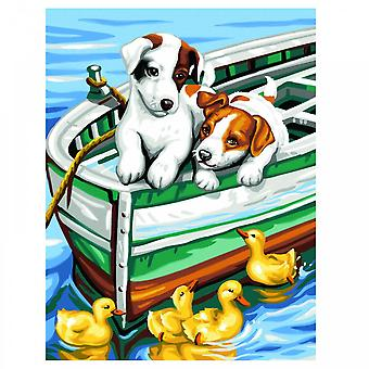 KSG Puppies And Ducks Painting By Numbers